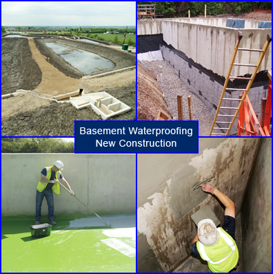 Waterproofing Basements in the Construction of New Structures