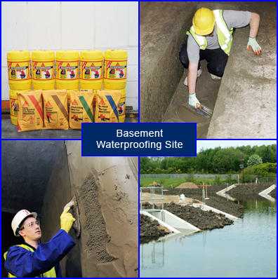 Application of Basement Waterproofing Materials